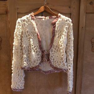 Moth By Anthropologie Crochet Shrug Sweater